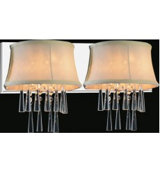 CWI- Audrey 2 Light Vanity Light with Chrome finish (5532W21C-2 (Beige))