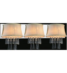 CWI- Audrey 3 Light Vanity Light with Chrome finish (5532W32C-3 (Beige))