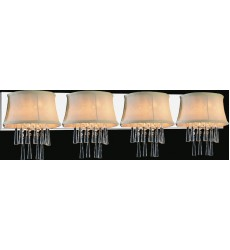CWI- Audrey 4 Light Vanity Light with Chrome finish (5532W43C-4 (Beige))
