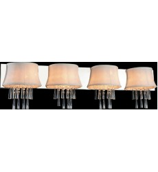 CWI- Audrey 4 Light Vanity Light with Chrome finish (5532W43C-4 (White))