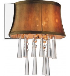 CWI- Audrey 1 Light Bathroom Sconce with Chrome finish (5532W9C-1 (Brown))