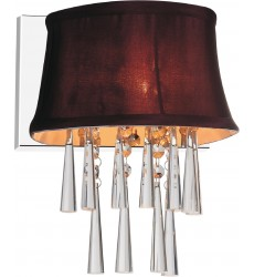 CWI- Audrey 1 Light Bathroom Sconce with Chrome finish (5532W9C-1 (Dark Purple))