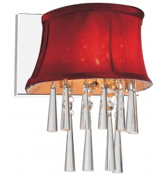 CWI- Audrey 1 Light Bathroom Sconce with Chrome finish (5532W9C-1 (Rose Red))