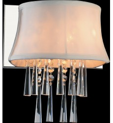 CWI - Audrey 1 Light Bathroom Sconce with Chrome finish (5532W9C-1 (White))