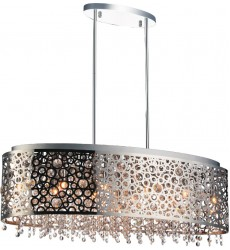 Bubbles 11 Light Drum Shade Chandelier with Chrome finish (5536P30ST-O)
