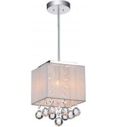 CWI - Shower 1 Light Drum Shade Mini Pendant with Chrome finish (5556P6C-S-1 (W))