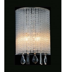 Benson 2 Light Bathroom Sconce with Chrome finish (5562W8C-A Clear) - CWI Lighting