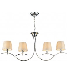 CWI- Accomplished 4 Light Up Chandelier with Chrome finish (5563P40C-4 Off White)
