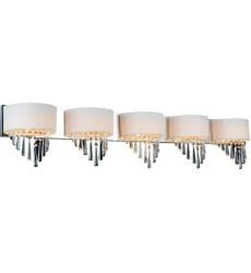 Burney 5 Light Vanity Light with Chrome finish (5565W48C-5 (Off White))