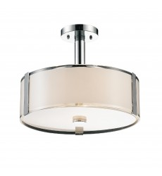 CWI- Lucie 4 Light Drum Shade Chandelier with Chrome finish (5571P17C-R)