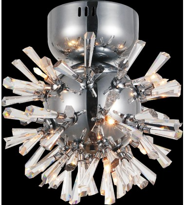 CWI- Flair 6 Light  Flush Mount with Chrome finish (5572C9C-R(M))