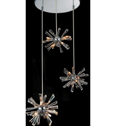 CWI- Flair 12 Light Multi Light Pendant with Chrome finish (5572P15C-R(S))
