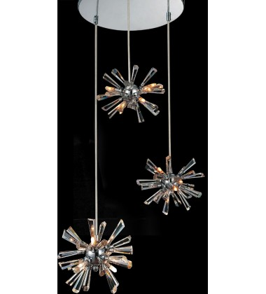 CWI - Flair 12 Light Multi Light Pendant with Chrome finish (5572P15C-R(S))