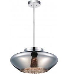 CWI- Scope 5 Light Drum Shade Chandelier with Chrome finish (5607P19C-E Smoke)