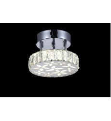 CWI- Aster LED  Flush Mount with Chrome finish (5618C8ST)