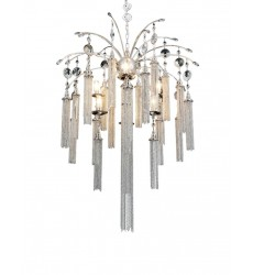CWI - Chloe 7 Light Down Chandelier with Chrome finish (5622P28C)