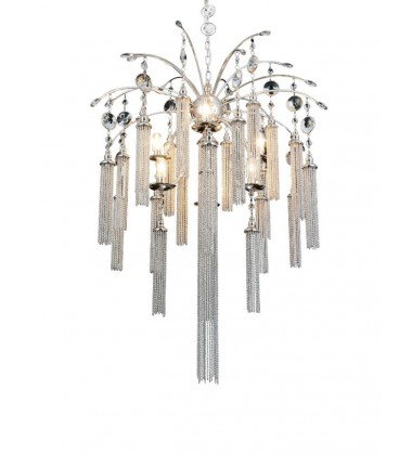 CWI- Chloe 7 Light Down Chandelier with Chrome finish (5622P28C)