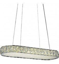 CWI - Milan LED  Chandelier with Chrome finish (5626P22ST-RC)