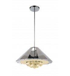 CWI- Yangtze 6 Light Down Chandelier with Chrome finish (5666P18C)