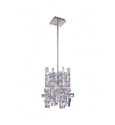 Arley 1 Light  Mini Chandelier with Chrome finish (5689P6-1-S-601) - CWI Lighting