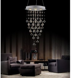 Robin 3 Light Down Chandelier with Chrome finish (6640P18C-O)