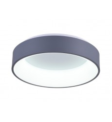 Arenal LED Drum Shade Flush Mount with Gray & White finish (7103C24-1-167) - CWI Lighting