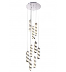 Boreas LED Multi Point Pendant with Chrome finish (7121P14-9-601) - CWI Lighting