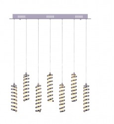CWI- Boreas LED Multi Point Pendant with Chrome finish (7121P30-7-601)