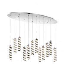 CWI- Boreas LED Multi Point Pendant with Chrome finish (7121P38-12-601)