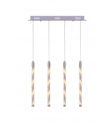 CWI- Aegeus LED Multi Point Pendant with Chrome finish (7122P20-4-601)