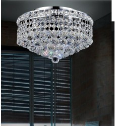 CWI- Luminous 3 Light  Flush Mount with Chrome finish (8002C12C)