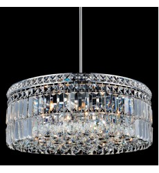 CWI- Colosseum 10 Light Down Chandelier with Chrome finish (8006P24C-R)