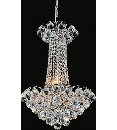 Glimmer 11 Light Down Chandelier with Chrome finish (8008P16C)