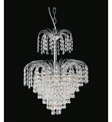 Palm Tree 7 Light  Chandelier with Chrome finish (8011P14C)