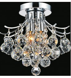 CWI- Princess 3 Light  Flush Mount with Chrome finish (8012C12C)