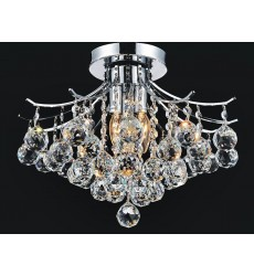CWI- Princess 4 Light  Flush Mount with Chrome finish (8012C16C)