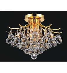 CWI- Princess 4 Light  Flush Mount with Gold finish (8012C16G)