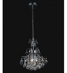 CWI- Princess 3 Light  Mini Chandelier with Chrome finish (8012P12C)