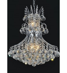 Princess 8 Light Down Chandelier with Chrome finish (8012P20C)