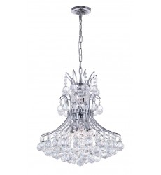CWI- Princess 8 Light Down Chandelier with Chrome finish (8012P20C)