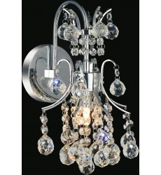 CWI- Princess 1 Light Wall Sconce with Chrome finish (8012W8C)