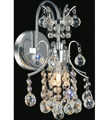 Princess 1 Light Wall Sconce with Chrome finish (8012W8C)