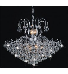 CWI- Royal 6 Light Down Chandelier with Chrome finish (8019P24C)