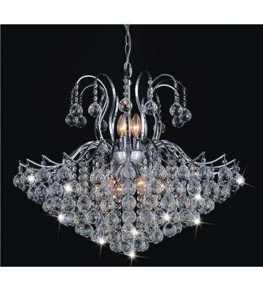 Royal 6 Light Down Chandelier with Chrome finish (8019P24C)