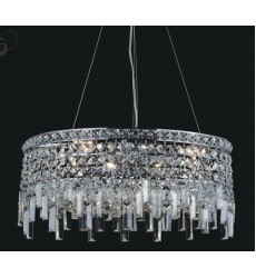 CWI- Colosseum 10 Light Down Chandelier with Chrome finish (8031P24C-R)