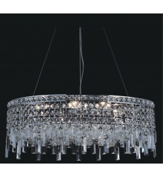CWI- Colosseum 8 Light Down Chandelier with Chrome finish (8031P26C-O)