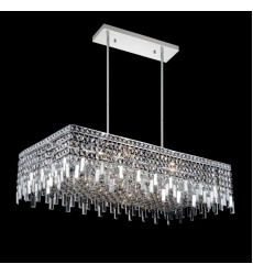 CWI- Colosseum 10 Light Down Chandelier with Chrome finish (8031P30C-RC)