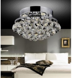 CWI- Queen 4 Light  Flush Mount with Chrome finish (8038C14C-R)