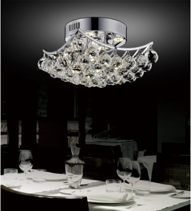 CWI- Queen 6 Light  Flush Mount with Chrome finish (8038C18C-S)
