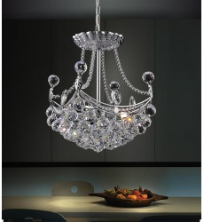 CWI- Jasmine 4 Light  Mini Chandelier with Chrome finish (8041P10C-S)